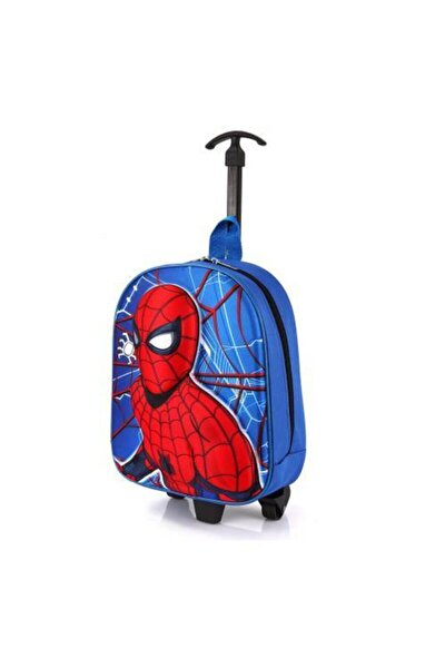 Anaokulu Çekçekli Sırt Çantası Örümcek Adam Kabartmalı 5d Spiderman