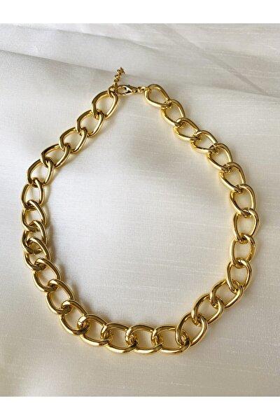 Klasik Gold Renk Bayan Zincir Kolye