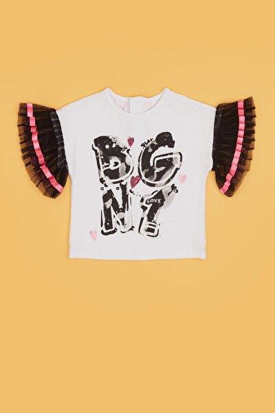 Kız Bebek Beyaz T-shirt 20pfwbg2510