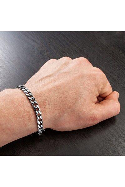 Ünisex Gümüş Model Kararmaz Bakla Zincir Bileklik ( 20 Cm )