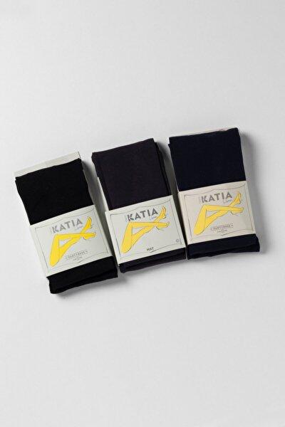 3'lü Paket 40 Denye Kadın Külotlu Çorap Seti - Mıx