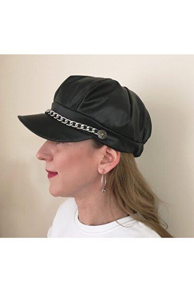 Yeni Sezon Suni Deri Kadın Şapka
