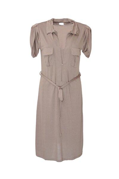 Kadın Vizon Jersey Elbise - Bga889417