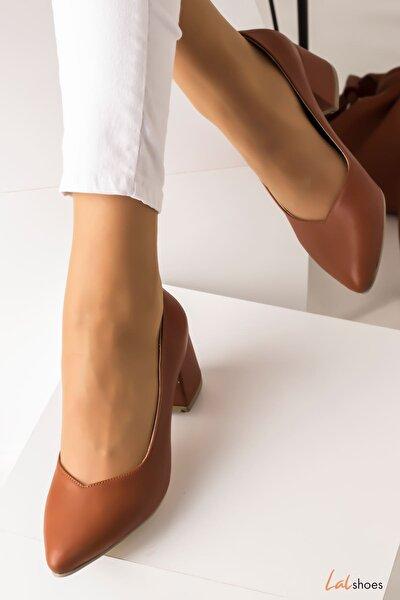 Kadın Topuklu Ayakkabı-taba