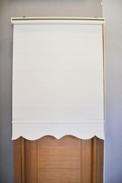 Beyaz Mat Polyester Stor  Etek Dilimi Hediyeli