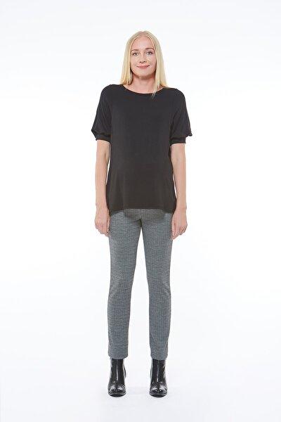 Hamile Belden Ayarlı Siyah Iş Pantolonu
