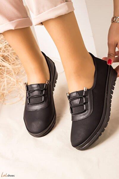 Moranta Nubuk Bayan Ayakkabı-siyah