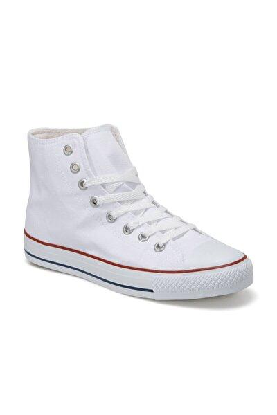 EC-1105 HI Beyaz Erkek Kalın Tabanlı Sneaker 100669439