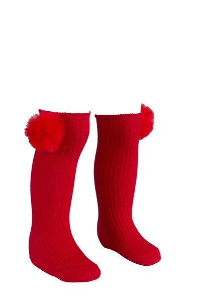 Ponpolu Dizaltı Çorap Kız Çocuk / Bebek
