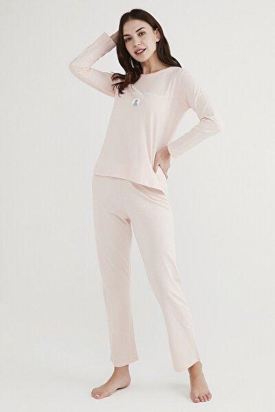 Kadın Pembe Base Offline Pijama Takımı