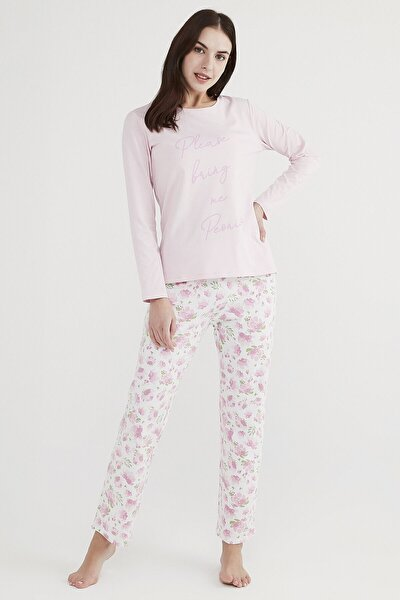 Çok Renkli Peony Pijama Takımı
