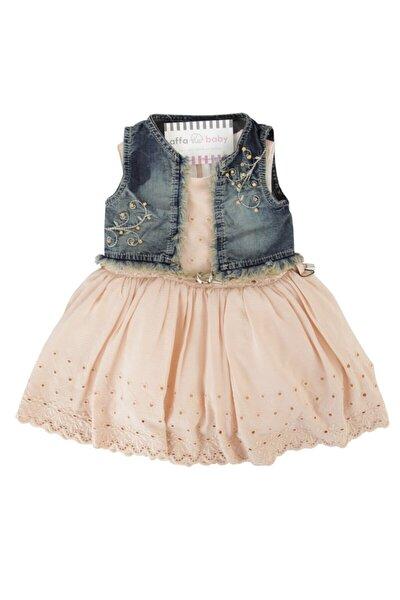Prenses Kız Bebek Elbise Somon