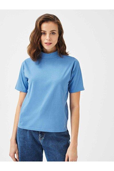 Xınt Dik Yaka %100 Pamuk Rahat Kesim Basic Tişört