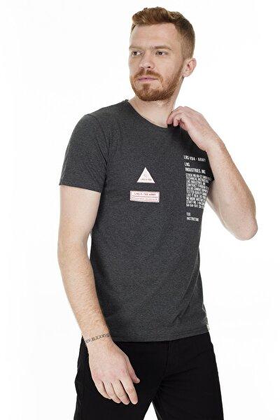 Baskılı Bisiklet Yaka Slim Fit T Shirt Erkek T Shirt Aby38111lns