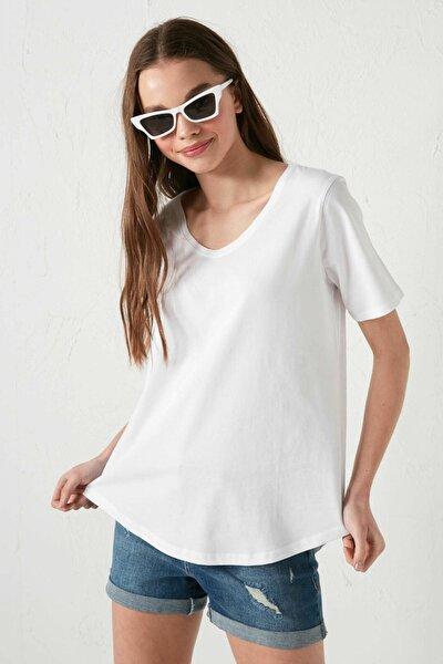 Kadın Optik Beyaz LCW Casual Tişört