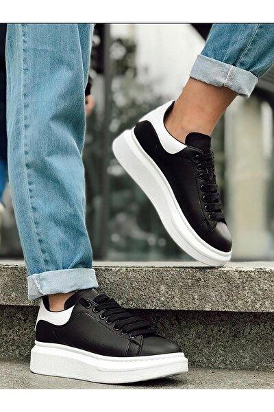 Beyaz Yüksek Taban Unisex Sneakers Ayakkabı