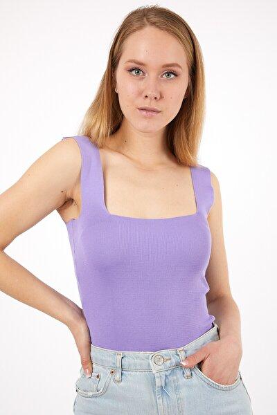 Kadınlila Kalın Askılı Yazlık Triko Bluz
