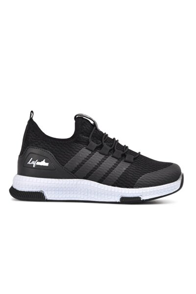 706 Siyah-beyaz Çocuk Spor Ayakkabı