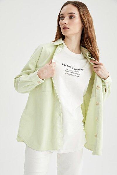 Retro Düğmeli Cep Detaylı Oversize Fit Tunik Ceket