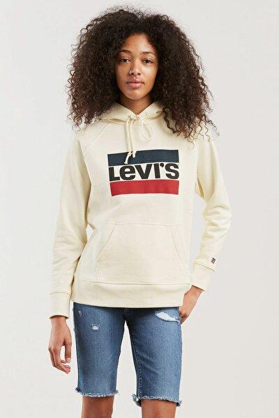 Kadın Beyaz Sweatshirt 35946-0001