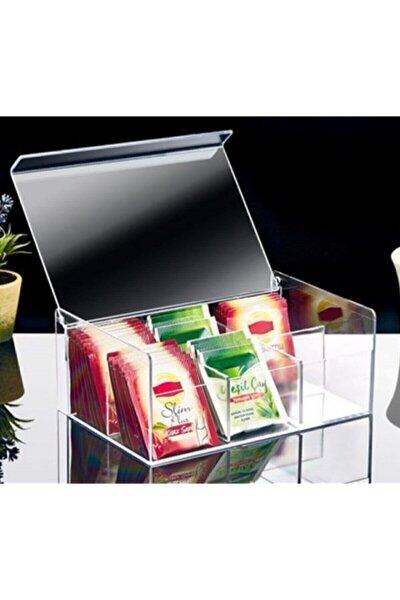 Çay Kutusu 6bölmeli Kapaklı Poşet Bitki Çayı Saklama Kabı