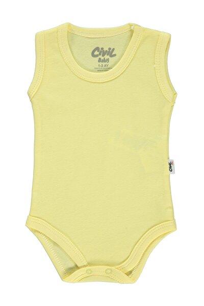 Erkek Bebek Sarı Çıtçıtlı Badi