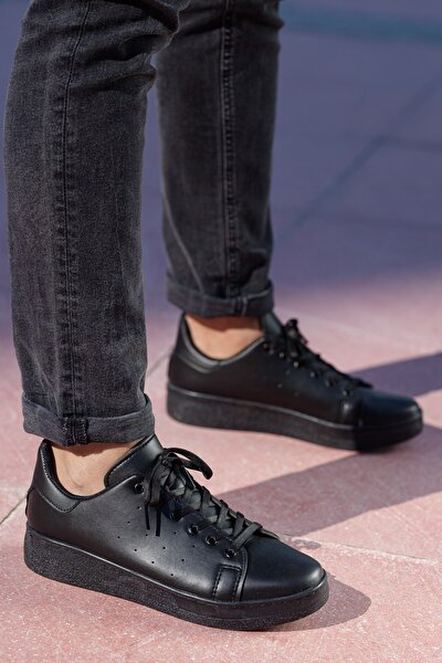 Unisex Siyah  Sneaker Ayakkabı Svt21