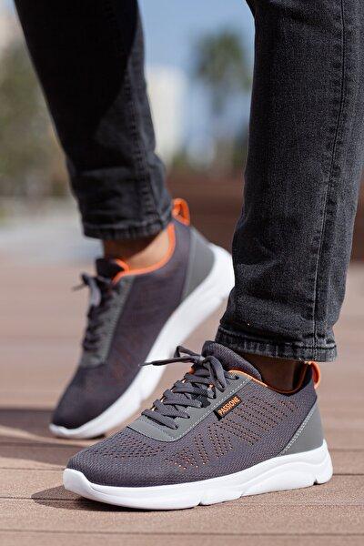 Unisex Gri Bağcıklı Sneakers Ayakkabı Svt17