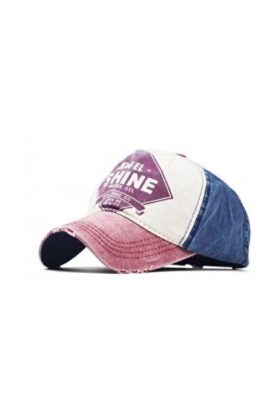 Unisex Bordo Jewel Shine Beyzbol Eskitme 2019 Model Şapka