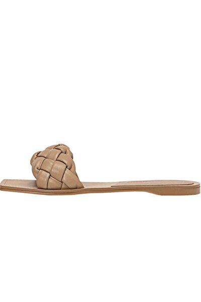 Örgü Düz Sandalet