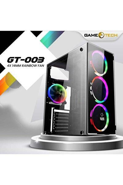 Gt-003 4x120mm Fan Gaming Oyuncu Bilgisayar Kasası