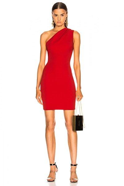 Kadın Tek Omuz Büzgülü Mini Elbise 2198055