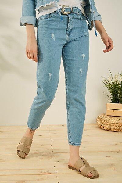 Kadın Mavi Pantolon P529KPA102