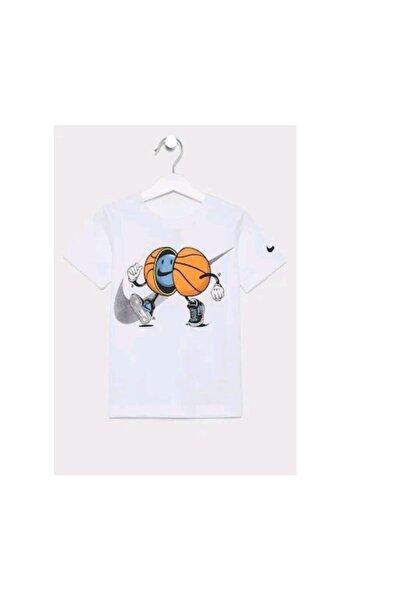 Unisex Çocuk Beyaz T-shirt