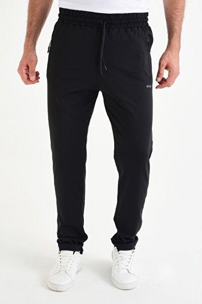 Erkek Siyah Eşofman Altı Dalgıç Kumaş 104