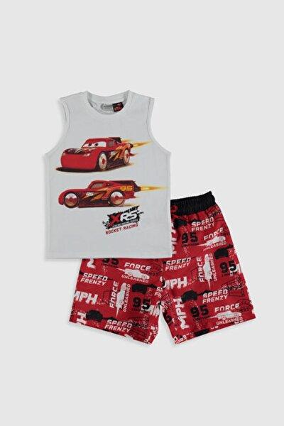 Cars Erkek Çocuk Kırmızı Baskılı Ltq Mayo