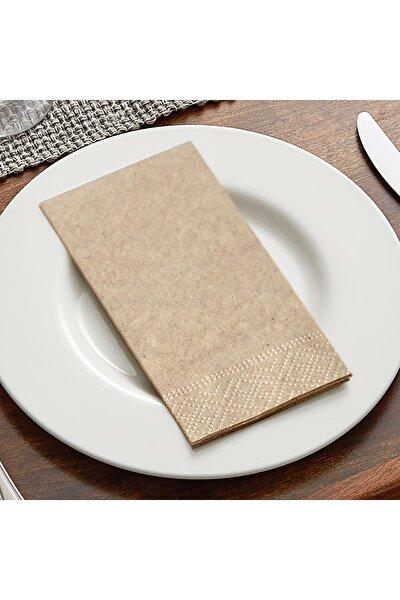 33x33 cm 2 Katlı 100'lü Garson Katlama Kraft Kağıt Peçete