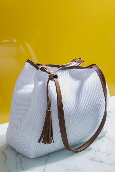 Kadın Çanta Beyaz Kahve Tbc05
