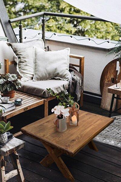 Orta Sehpa Ahşap Bahçe / Balkon Masası