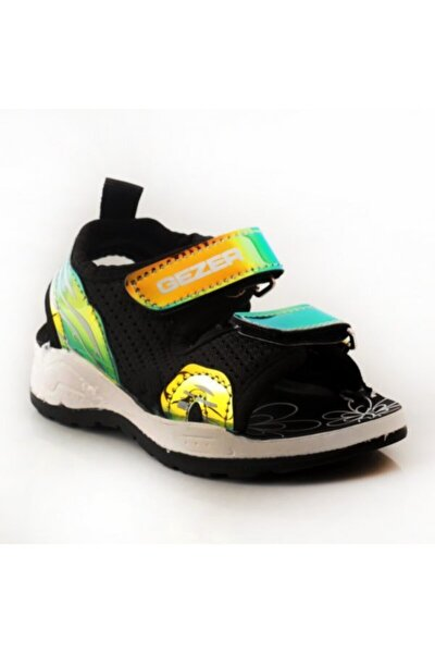 Siyah Yeşil Çocuk Sandalet