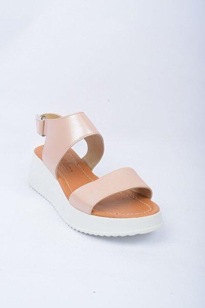 Hakiki Deri Pembe Kadın Sandalet 6403T157