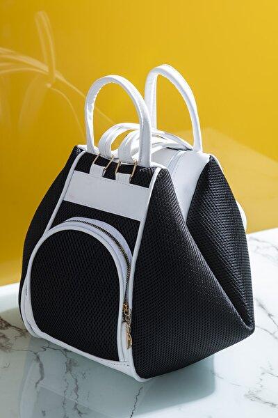 Kadın Çanta Çoklu Kullanıma Uygun Siyah Beyaz Tbc04