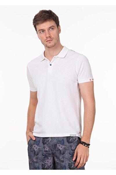 Erkek Beyaz Düz Örme T - Shirt RP10120144
