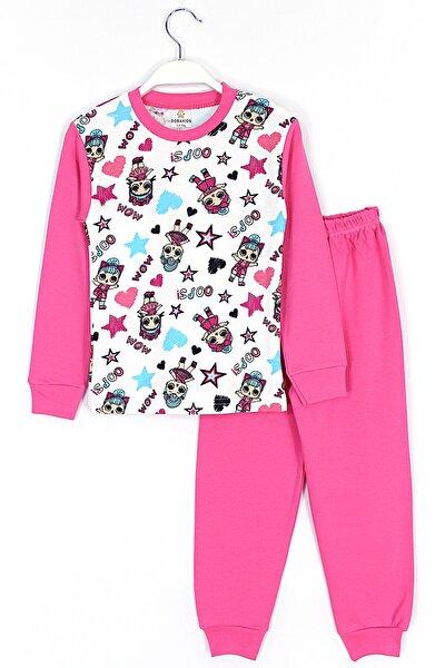 Kız Çock Bebek Baskılı Pijama Takımı 4 - 10 Yaş Aralığı Pembe