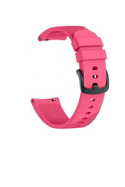 Samsung Watch Gear S3 Frontier 46mm Sport Kordon Silikon Pembe