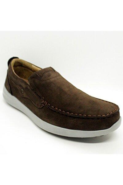 Nubuk Deri Kahverengi Makosen Erkek Ayakkabı
