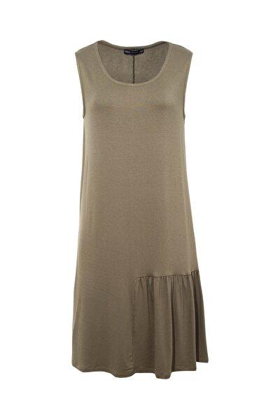 Kadın Yeşil Swing Plaj Elbisesi T52004250H