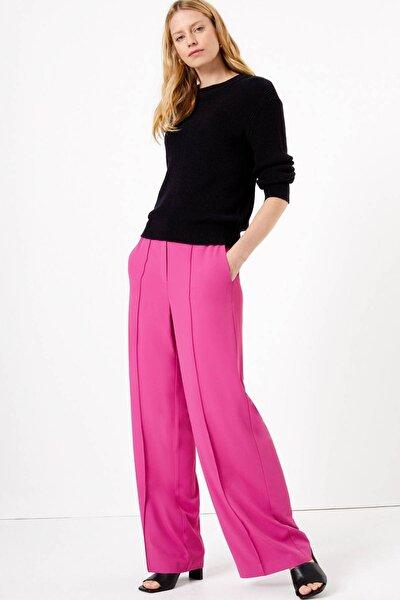 Kadın Mor Bağcıklı Wide Leg Pantolon T59006462