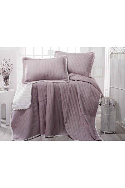 Ponponlu Yatak Örtüsü Set Çift Kişilik