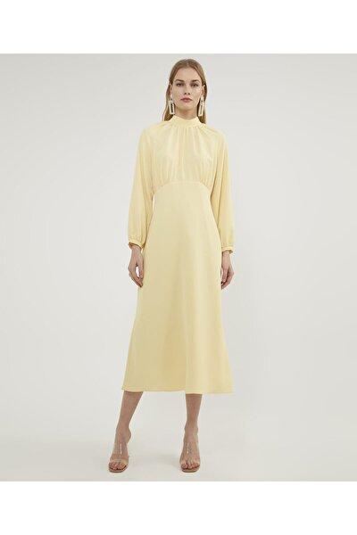 Kadın Sarı Reglan Sarı Elbise V42880123